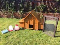 Chicken coop - Hen hutch - Chicken house - with automatic door opener