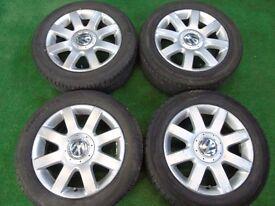 "VW GOLF MK5, MK6, MK7, TOURAN, CADDY, PASSAT 16"" ALLOY WHEELS"