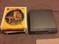 GEC McMichael video disc player and video discs for sale