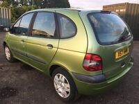 2001 X RENAULT MEGAN SCENIC 1.6 MOT 1 YEAR PART EX WELCOME DELIVERYT ANYWHERE IN UK