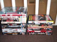 Selection of dvds & vhs films,thriller,childrens