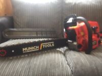 Brand new unused Munich tools chainsaw for sale £160