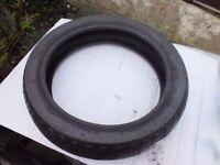 "Unused Vee Rubber 16"" motorbike tire"