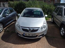 2008 Vauxhall Corsa 1.2 Club, PRICE REDUCED!!!! (was £1975)