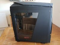 NZXT Matte Black/Red Noctis 450 Mid Tower PC Gaming Case