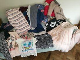 Bundle/ bag of girls clothes including Julien Macdonald, Next, Animal. sizes range from 7/8 & 8/9