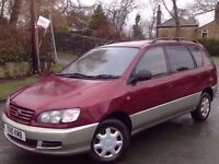 TOYOTA PICNIC GS TD 5 DOORS (7 SEATER) MANUAL RED