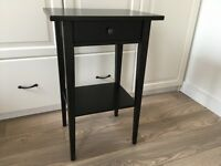 Ikea Hemnes bedside table black
