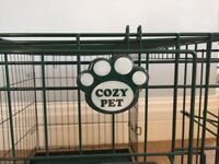 "Cozy Pet Balmoral Green dog crate. 36"" 1 year old. Great condition. No longer required."
