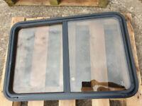 Bespoke Double Glazed Sliding Camper/Motorhome Window -Toughened Glass with Lock