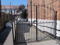 Black powder coated gates