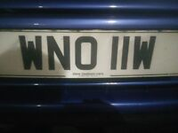 WNO 11W number plate for sale. Offers over 650