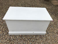 Old Painted Shabby Chic Pine Chest / Trunk / Blanket Box