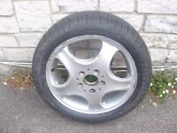 2005 MERCEDES A/CLASS SPARE WHEEL ALLOY WITH BRAND NEW TYRE ALSO A CORSA