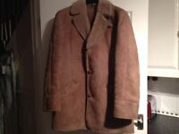 Mans Sheepskin coat size 42 chest in good condition.