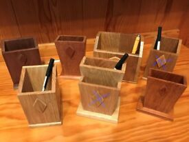 Wooden Pen Holders - Ideal Christmas Gifts