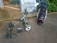 Electric trolley and bag
