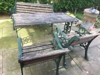 Cast Iron Garden Furniture Patio Set