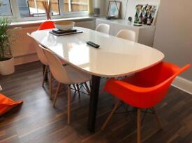 Gloss White 6 Seater Dining Table
