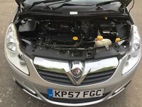 2007 57 Plate Vauxhall Corsa 1.2 i 16v Club 5dr Low Insurance Group Low Price