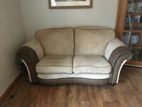 3 seater and 2 seater Fabric Sofas, Biscuit and Chocolate colour