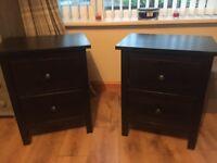 Black ikea Hemnes drawers set