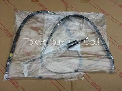 Toyota AE86 GTS Levin Trueno Zenki Kouki Parking Brake Cable set Genuine OEMPart