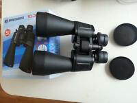 pair of large binoculars 60mm lens with case and straps