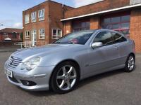 2005 (55) MERCEDES C200 COUPE CDI SPORT EDITION DIESEL AUTOMATIC NEW MOT!