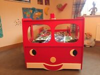 Fire Engine Car Bed (x2) with optional bedding and floor rug