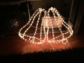 Christmas or wedding led rope light bells design IP44 rated bargain price