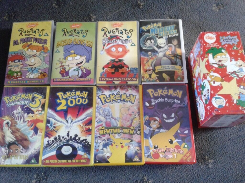 RUGRATS & POKEMON VHS VIDEO BUMPER COLLECTION+MOVIES:1ST ... Pokemon Mewtwo Returns Dvd