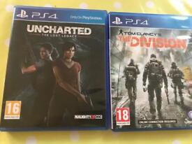 """Uncharted """"the lost legacy"""" and The Division for PS4"""