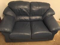 Blue leather 3 seater and 2 seater sofas FREE. Must be picked up by Monday 3rd April.
