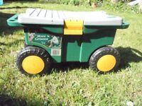garden tool storage trolley
