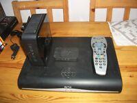Sky HD box + router + remote