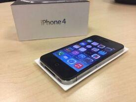 Boxed Black Apple iPhone 4 16GB Factory Unlocked Mobile Phone + Warranty