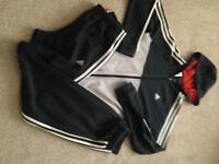 Boys adidas tracksuit (worn)