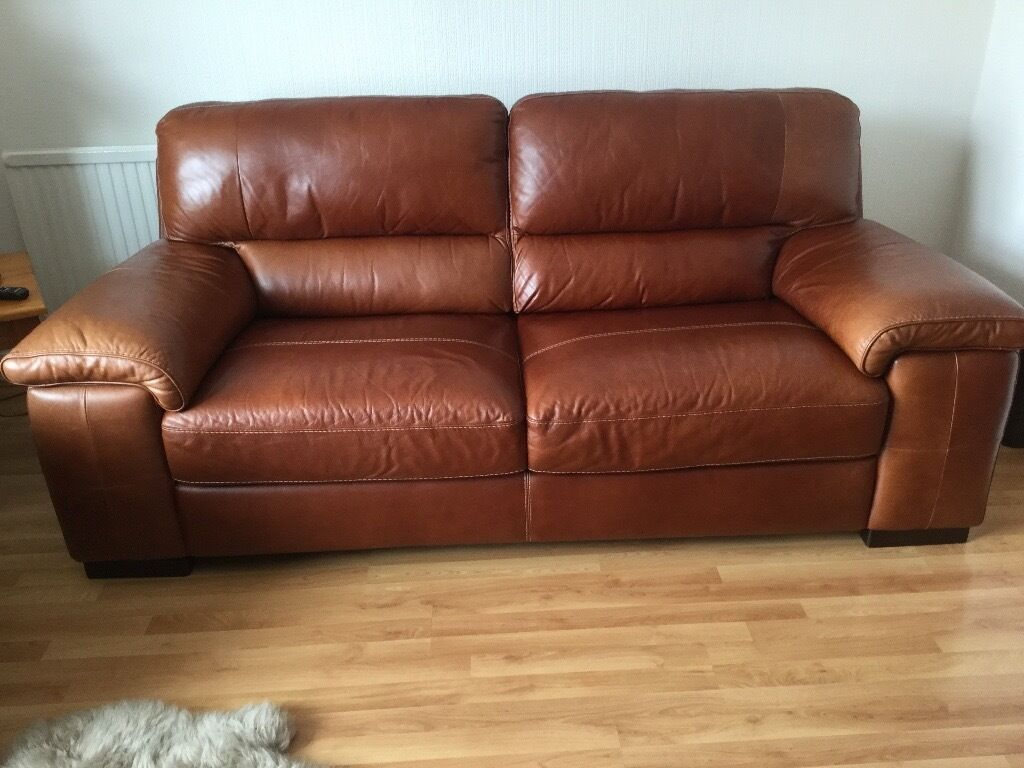 For Sale 3 Seater Leather Sofa In Bridgend Gumtree