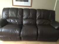 3 seater leather faux recliner 2 seater leather faux recliner sofa from Argos