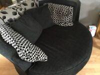 Black cuddle chair