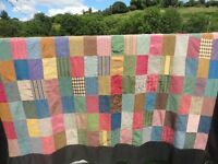 Vintage patchwork throw/tablecloth