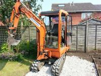mini &micro digger + muck truck hire