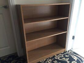 Oak vaneer bookcase