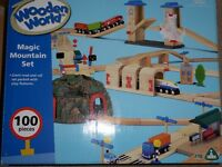 ELC Wooden World Road Set (from Magic Mountain Set) - 3 years +