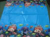 Waterproof Deep Blue with Fruit Extravaganza Tablecloth