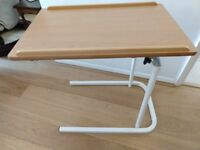 Adjustable Height Over Bed Table