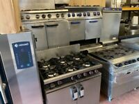 COMMERCIAL CATERING KITCHEN GAS COOKER UNDER OVEN FAST FOOD KITCHEN TAKE AWAY