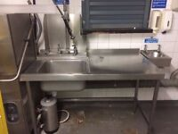 Kitchen Stainless steel Catering Equipment Clearance pubs or restaurant items Gas fryer Table sinks