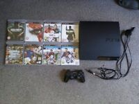 PS3 160GB Console With games, Cables and 2 Controllers